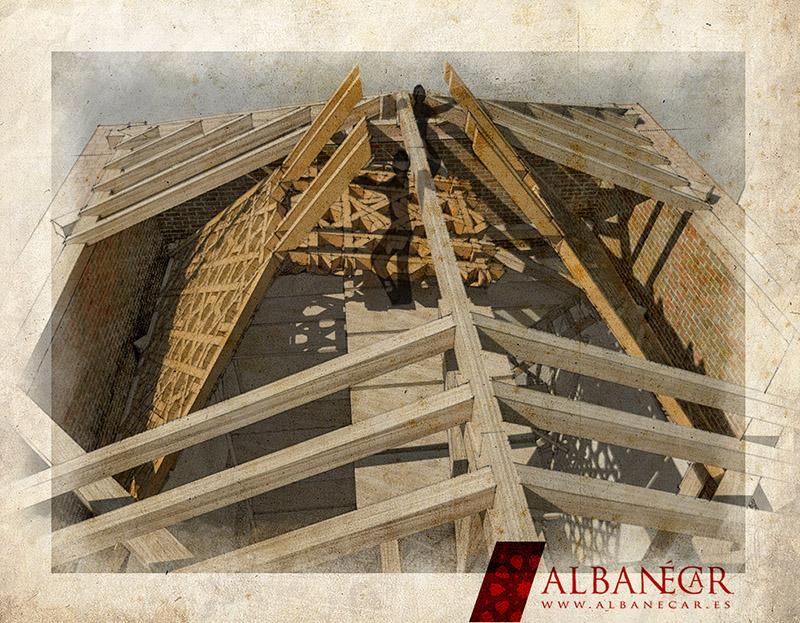 Encaje de los faldones laterales con el almizate. ©Albanécar, 2016.